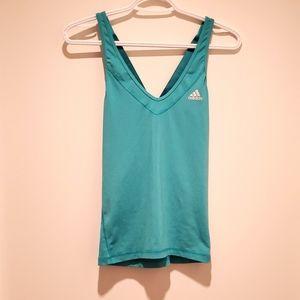 Adidas aqua workout top sz small